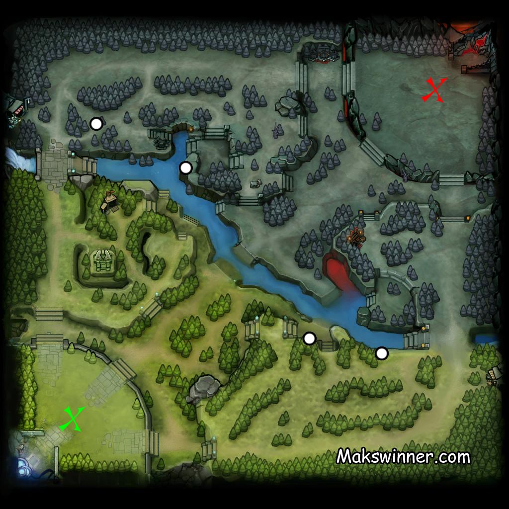 Карта дота 2, где ставить варды на карте
